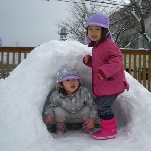 雪あそびしたよ!!【パリス将監西保育園】